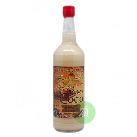 Saveurs de Coriandre Punch coco 15° 1L Guadeloupe