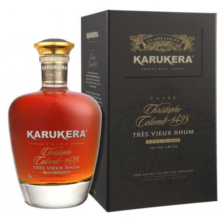 Karukera Rhum Vieux Cuvée Christophe Colomb carafe coffret 45° 70 cl Guadeloupe