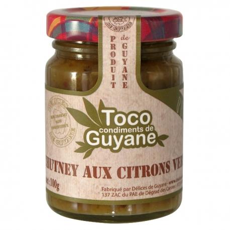 Toco chutney aux citrons verts 100 g Guyane