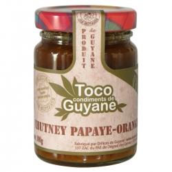 Toco chutney papaye orange 100 g Guyane