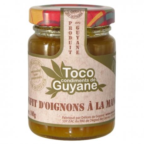Toco confit d oignons mangue 100 g Guyane