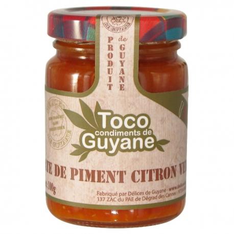Toco pate de piment aux citrons verts confits 100 g Guyane