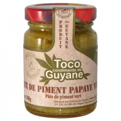 Toco pâte de piment papaye verte 100 g Guyane