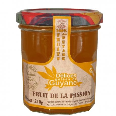 Délices Guyane confiture (gelée) au fruit de la passion (maracudja) 210 g