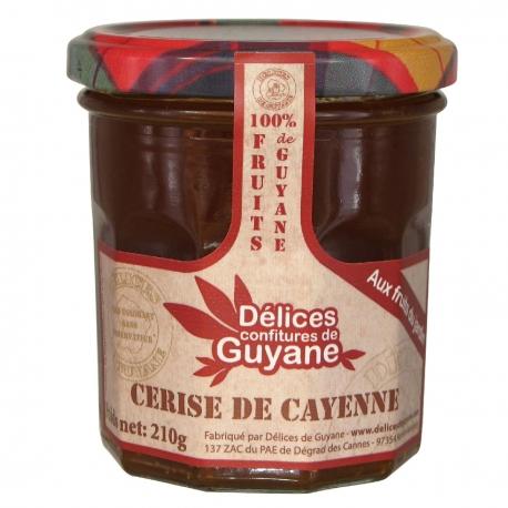 Délices Guyane confiture de cerise cayenne 210 g
