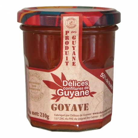 Délices Guyane confiture de goyave 210 g