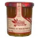 Délices Guyane Confiture Mangue au Rhum Vieux 210 g