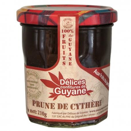 Délices Guyane confiture à la prune de cythere 210 g