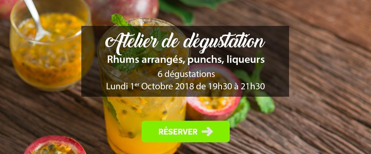 Atelier Rhums Arrangés, Punchs, Liqueurs